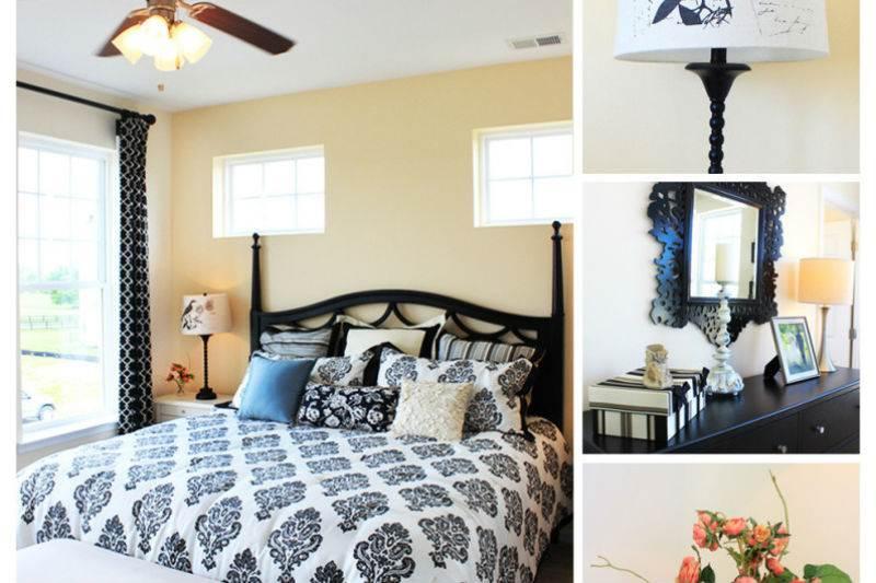 Дизайн спальни в черно-белой гамме8