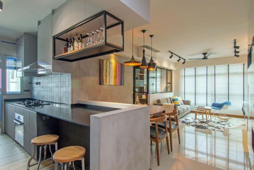 Дизайн стильной современной квартиры в Сингапуре (14)