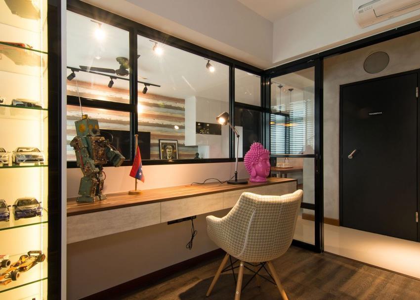 Дизайн стильной современной квартиры в Сингапуре (15)