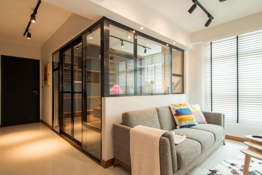 Дизайн стильной современной квартиры в Сингапуре (17)