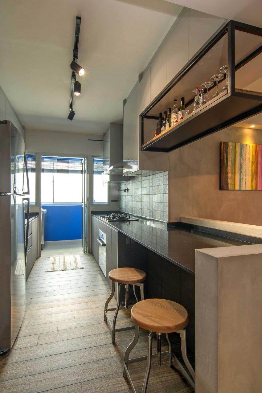 Дизайн стильной современной квартиры в Сингапуре (5)