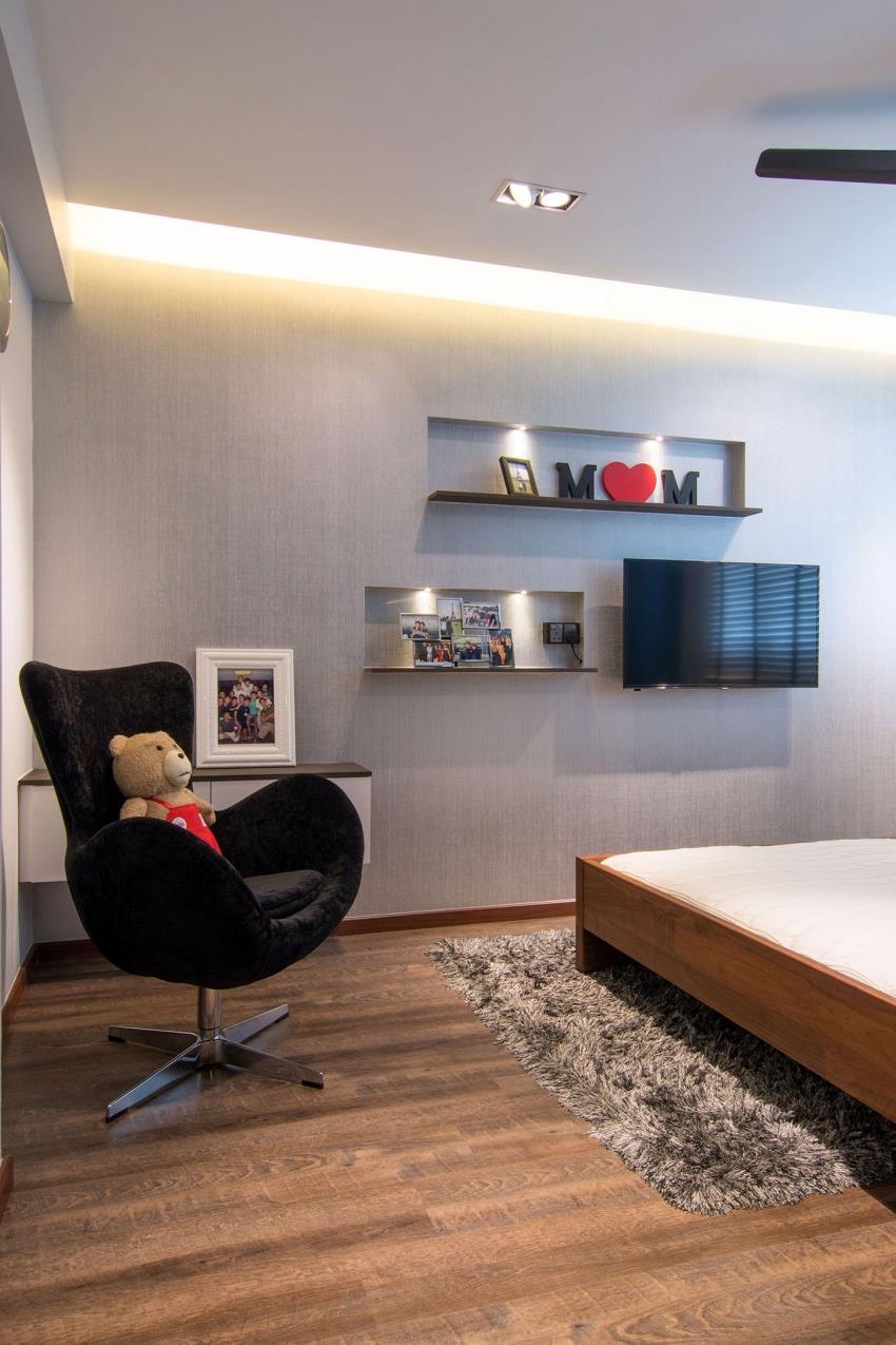 Дизайн стильной современной квартиры в Сингапуре (6)