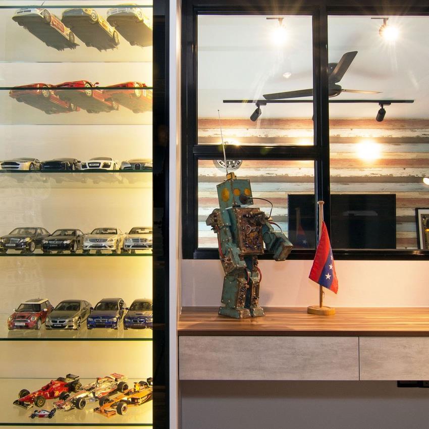 Дизайн стильной современной квартиры в Сингапуре (7)