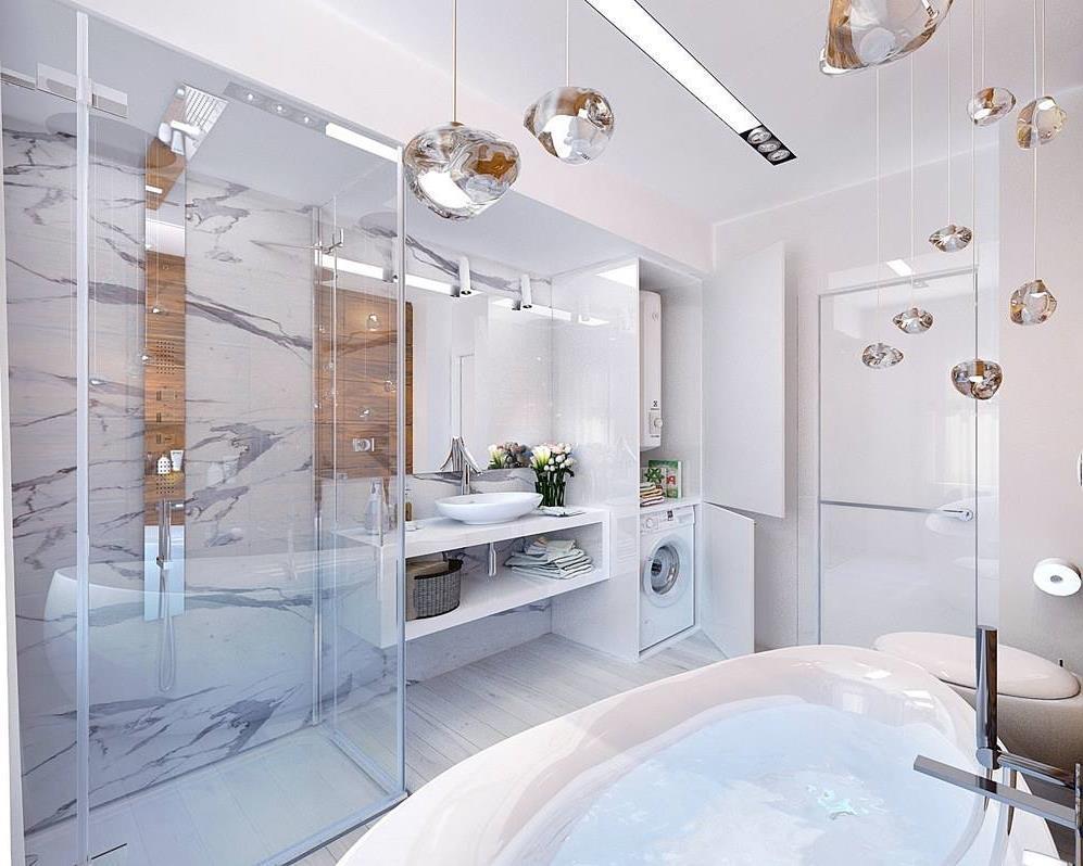 Дизайн ванной комнаты 8 кв.м. с туалетом (6)
