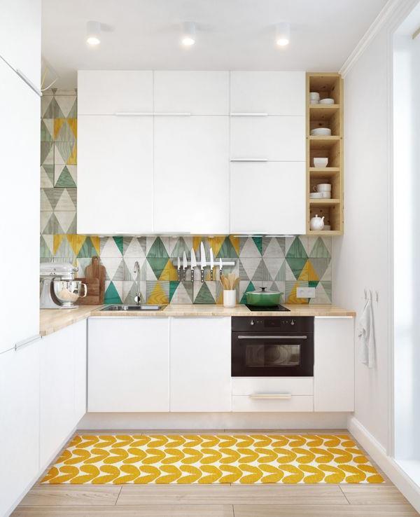 Дизайнерские идеи для небольшой кухни (20)