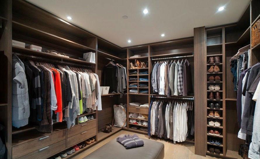 Эстетичность и удобства гардеробной комнаты