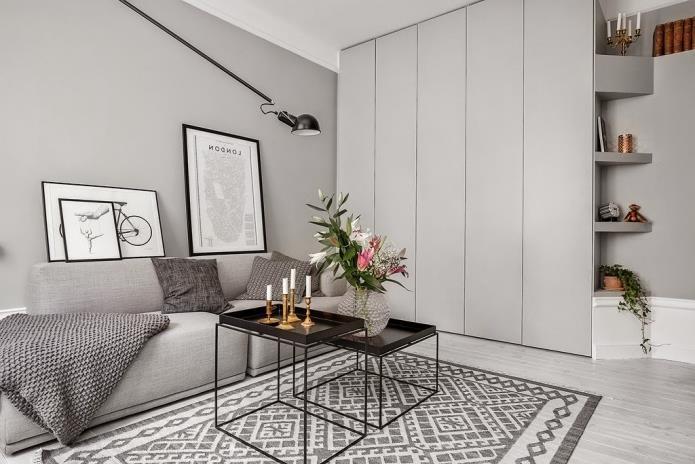 Фото интерьера маленькой однокомнатной квартиры 38 кв.м (11)