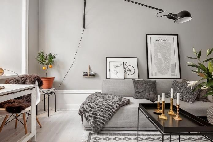 Фото интерьера маленькой однокомнатной квартиры 38 кв.м (7)