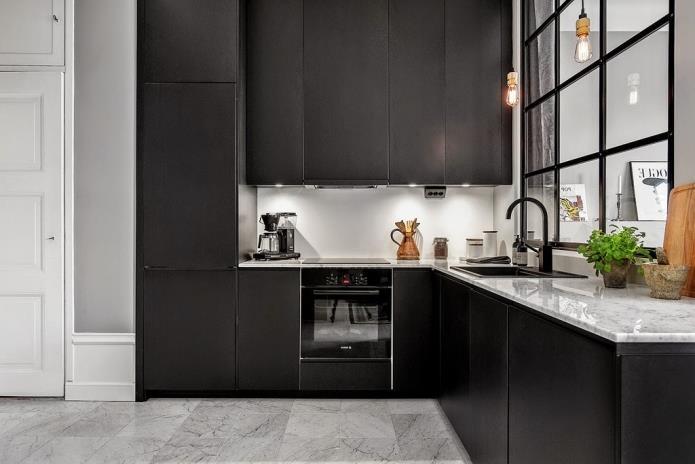 Фото интерьера маленькой однокомнатной квартиры 38 кв.м (8)