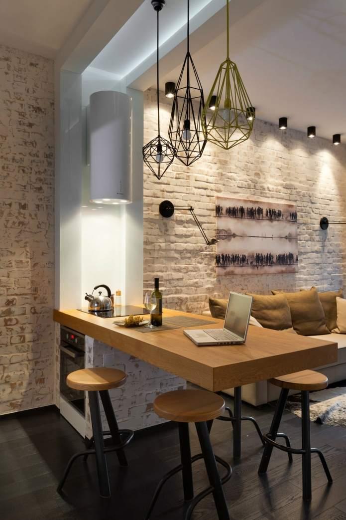 Интерьер квартиры 40 кв.м. в стиле лофт (1)