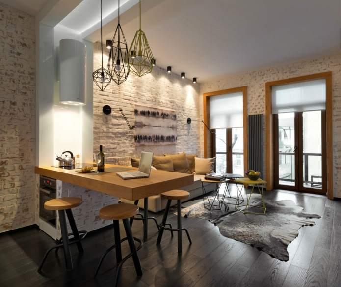 Интерьер квартиры 40 кв.м. в стиле лофт (11)