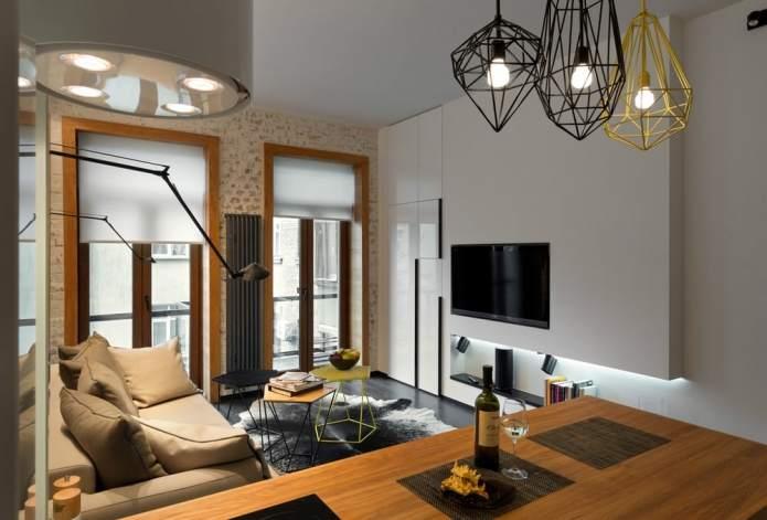 Интерьер квартиры 40 кв.м. в стиле лофт (14)