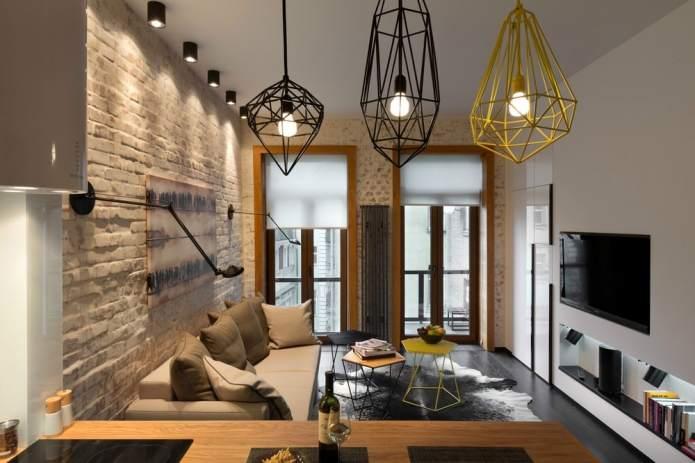 Интерьер квартиры 40 кв.м. в стиле лофт (15)