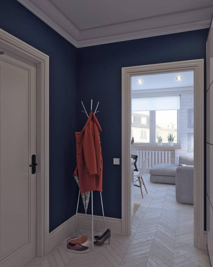 Интерьер маленькой квартиры-студии 24 кв. м. в скандинавском стиле (11)