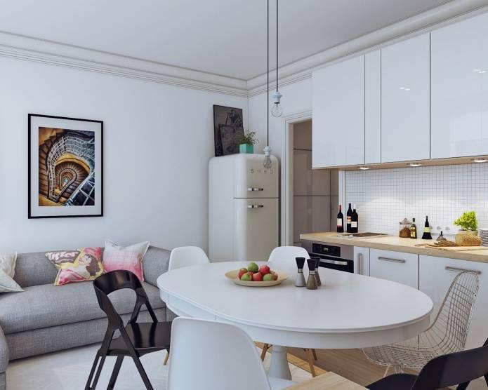 Интерьер маленькой квартиры-студии 24 кв. м. в скандинавском стиле (14)