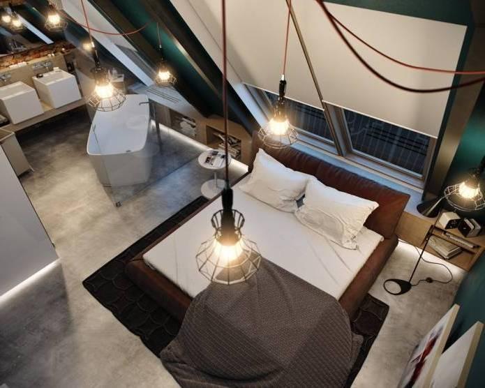 Интерьер современного двухуровневого лофта 110 кв.м. (10)