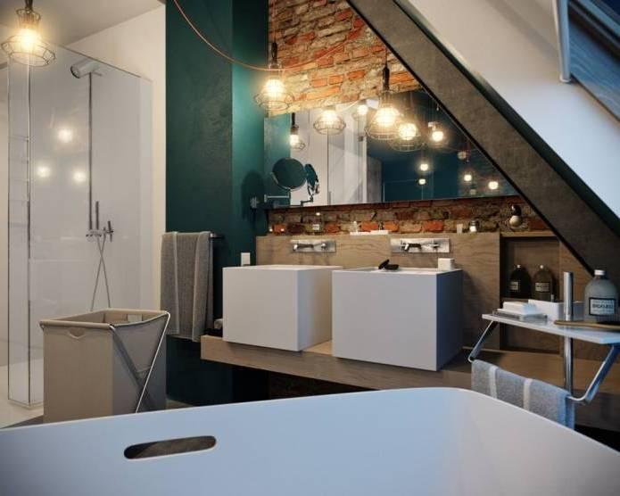 Интерьер современного двухуровневого лофта 110 кв.м. (11)