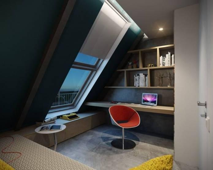 Интерьер современного двухуровневого лофта 110 кв.м. (12)