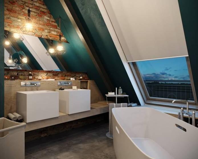 Интерьер современного двухуровневого лофта 110 кв.м. (15)