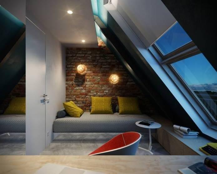 Интерьер современного двухуровневого лофта 110 кв.м. (8)