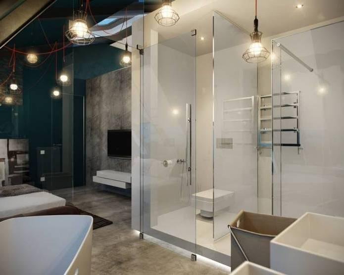 Интерьер современного двухуровневого лофта 110 кв.м. (9)