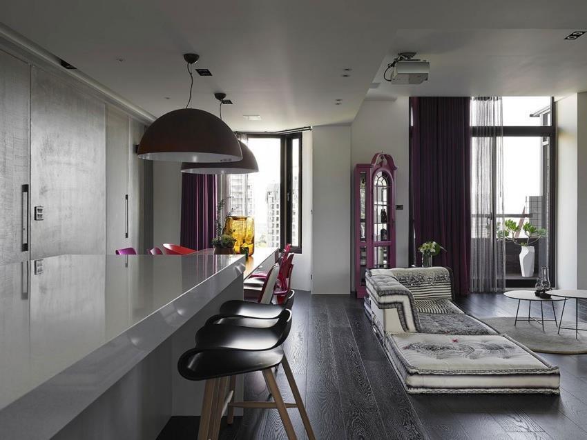 Интерьер современной квартиры приправленный красками (2)