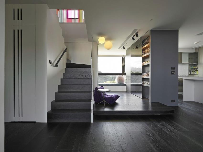Интерьер современной квартиры приправленный красками (7)