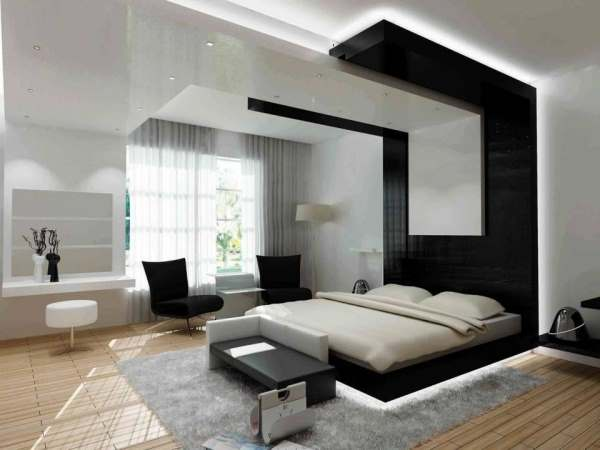 Интерьер современной спальни фото