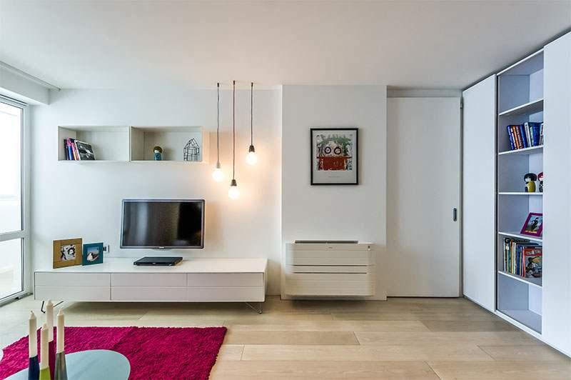 Использование микроцемента в интерьере гостиной (1)