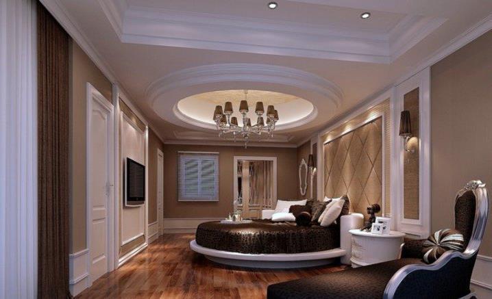 Потрясающий дизайн спальни с круглой кроватью (10)