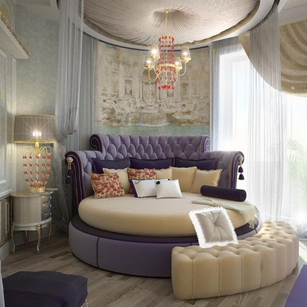 Потрясающий дизайн спальни с круглой кроватью (12)