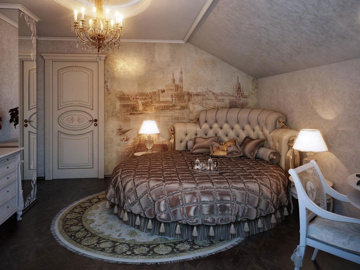 Потрясающий дизайн спальни с круглой кроватью (15)