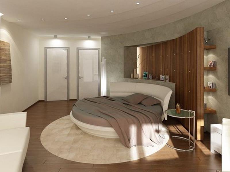 Потрясающий дизайн спальни с круглой кроватью (16)