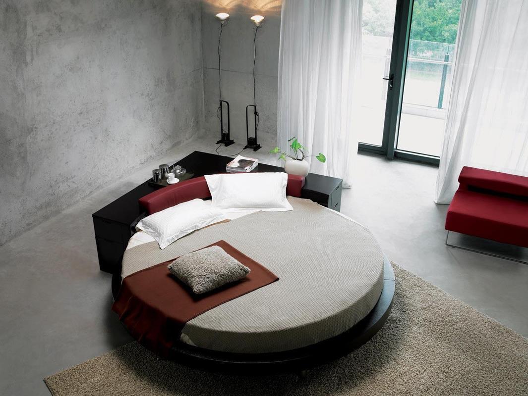 Потрясающий дизайн спальни с круглой кроватью (21)