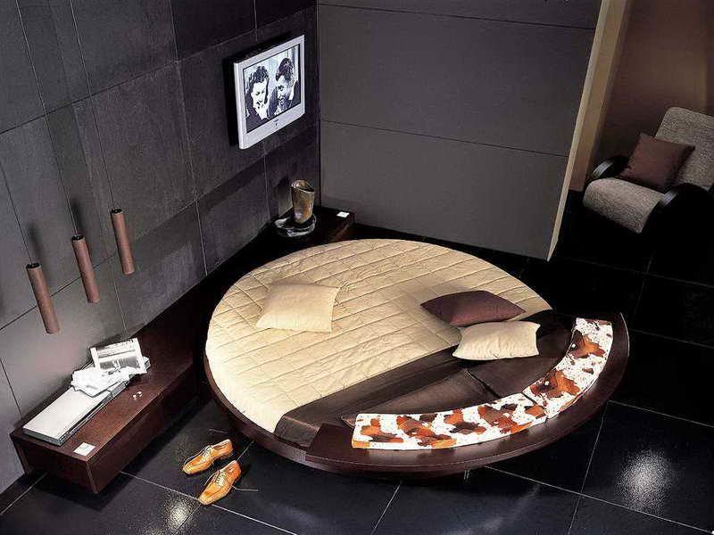 Потрясающий дизайн спальни с круглой кроватью (24)