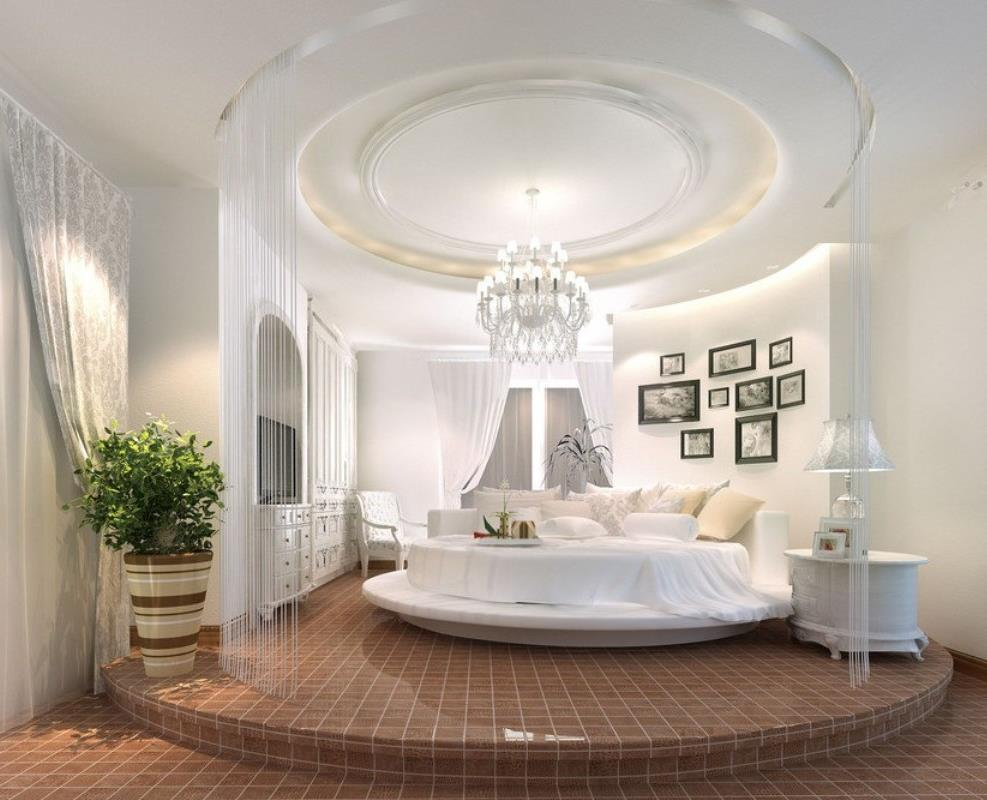Потрясающий дизайн спальни с круглой кроватью (3)