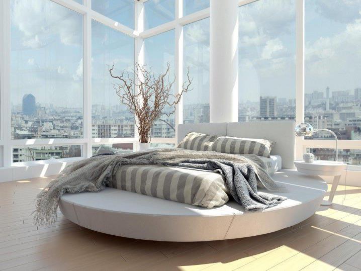 Потрясающий дизайн спальни с круглой кроватью (8)