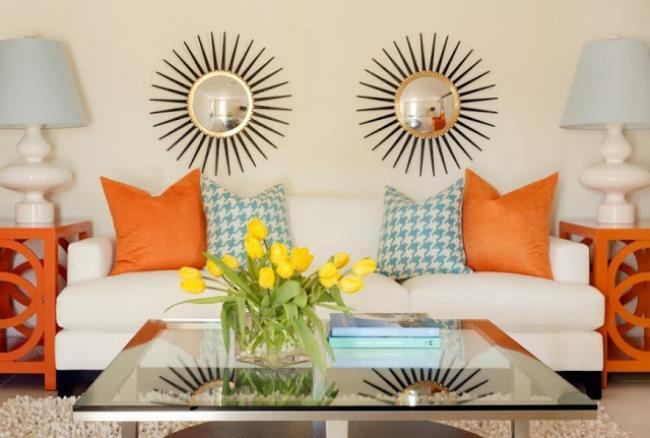 Сочетание оранжевого цвета интерьере квартиры (2)