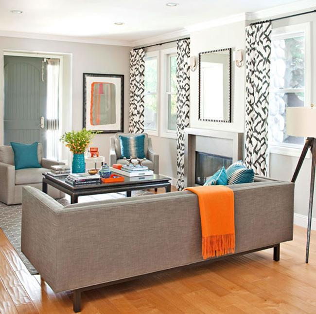 Сочетание оранжевого цвета интерьере квартиры (3)