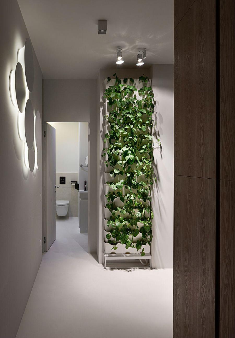 Современный интерьер из бетона, камня и дерева (15)
