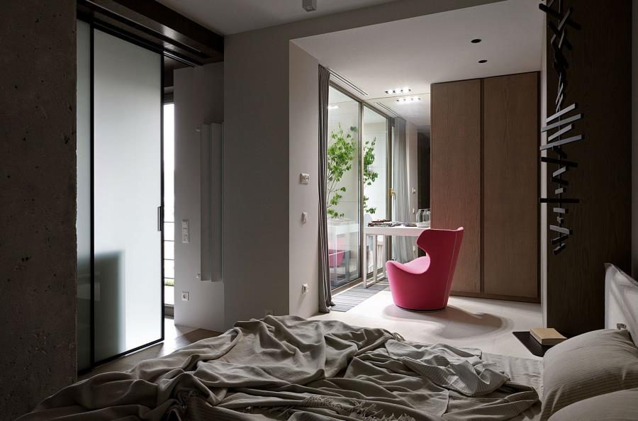 Современный интерьер из бетона, камня и дерева (8)