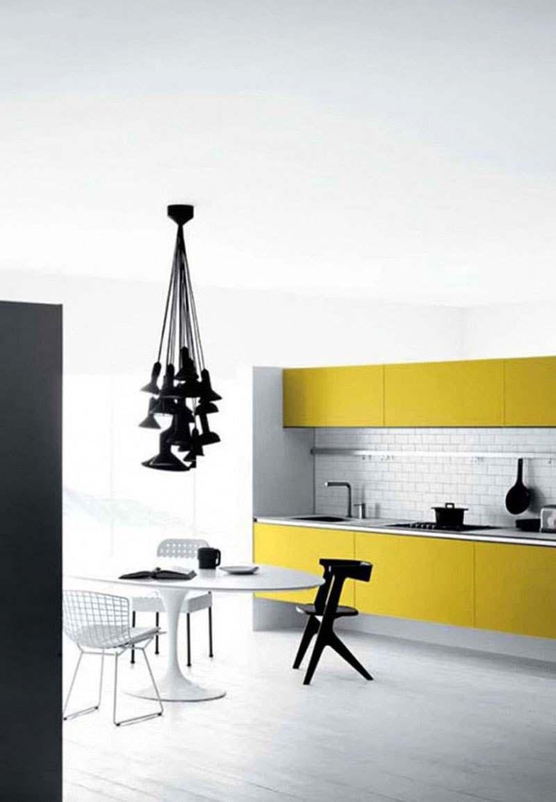 Желтый цвет в дизайне интерьера2