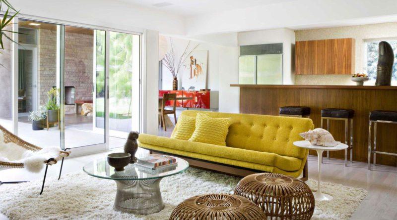 Желтый цвет в дизайне интерьера