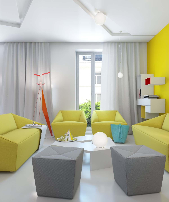 Желтый цвет в дизайне интерьера5