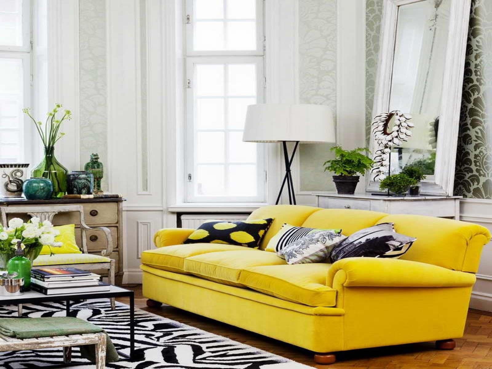Желтый цвет в дизайне интерьера6