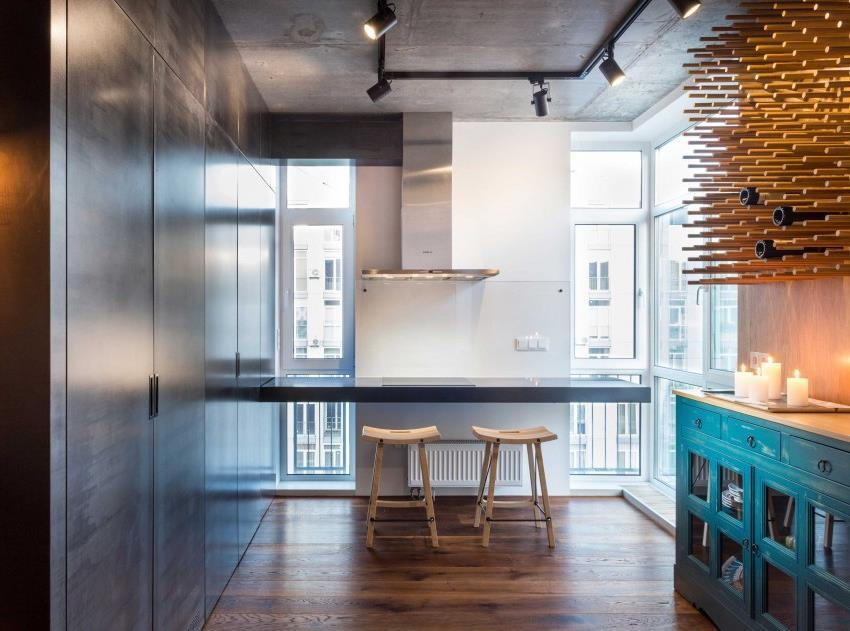 дизайн стильной двухкомнатной квартиры (6)