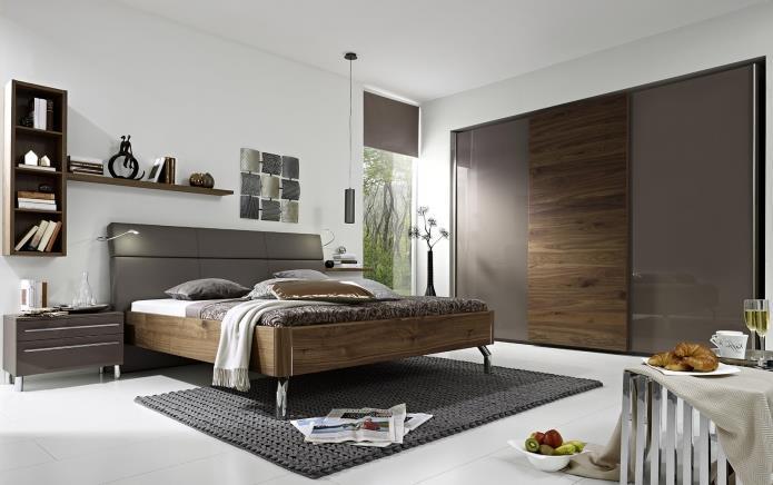 интерьер спальни в серой гамме (3)