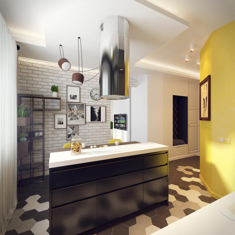 квартира площадью 37,5 кв.м (6)