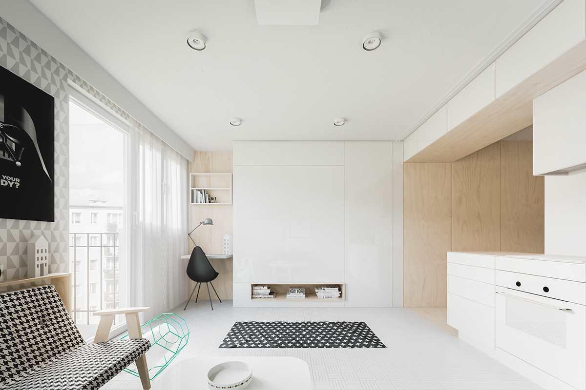 маленькая современная студия 20 кв.м (5)