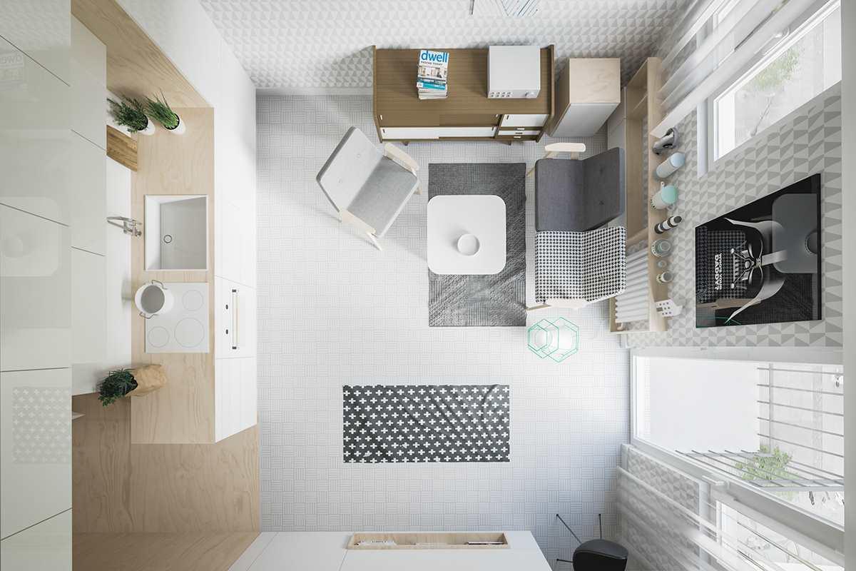 маленькая современная студия 20 кв.м (7)